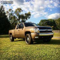2008 Chevrolet Silverado 1500 - 20x9 0mm - Dropstars 645B - Leveling Kit - 285/55R20