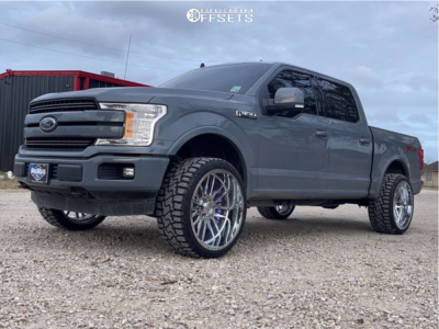 """2020 Ford F-150 - 24x12 -44mm - Axe Offroad Hades - Stock Suspension - 33"""" x 12.5"""""""