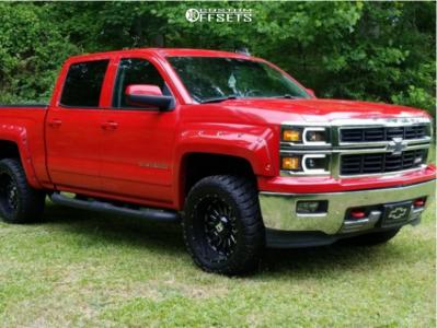 "2015 Chevrolet Silverado 1500 - 20x10 -24mm - Ballistic Machete - Leveling Kit - 33"" x 12.5"""