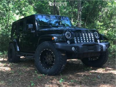 "2016 Jeep Wrangler JK - 18x9 -12mm - TIS 549b - Stock Suspension - 35"" x 12.5"""