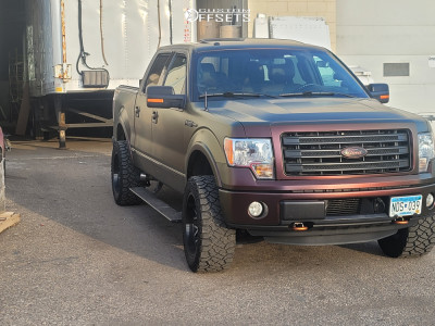 """2012 Ford F-150 - 20x10 -25mm - Toxic Punisher - Suspension Lift 2.5"""" - 33"""" x 12.5"""""""