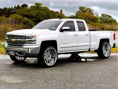 "2017 Chevrolet Silverado 1500 - 24x12 -51mm - Vision Rocker - Suspension Lift 2.5"" - 305/35R24"