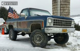 """1980 Chevrolet K10 - 16x7 -8mm - American Racing Outlaw II - Suspension Lift 5"""" - 35"""" x 12.5"""""""