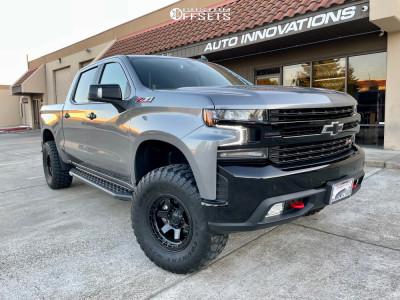 """2021 Chevrolet Silverado 1500 - 17x9 -12mm - Fuel Block - Suspension Lift 2.5"""" - 315/70R17"""
