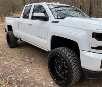 "2017 Chevrolet Silverado 1500 - 22x12 -44mm - TIS 544bm - Suspension Lift 5"" - 33"" x 12.5"""