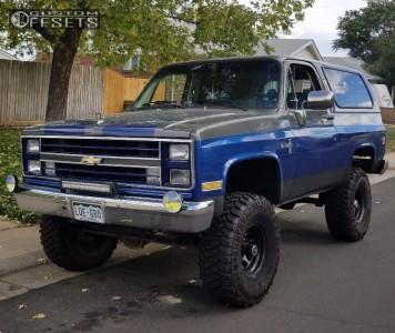 "1987 Chevrolet Blazer - 15x8 -19mm - Vision D Window - Suspension Lift 6"" - 35"" x 12.5"""