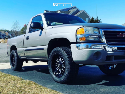 """2003 GMC Sierra 1500 - 20x9 -12mm - Panther Offroad 580 - Leveling Kit - 35"""" x 12.5"""""""