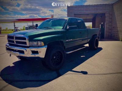 "1998 Dodge Ram 1500 - 20x12 -51mm - Vision Shadow - Suspension Lift 3"" - 325/65R20"