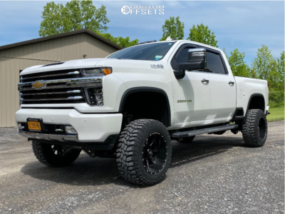 "2021 Chevrolet Silverado 3500 HD - 20x10 -16mm - Hardrock Spine Xposed - Suspension Lift 7"" - 35"" x 10.5"""