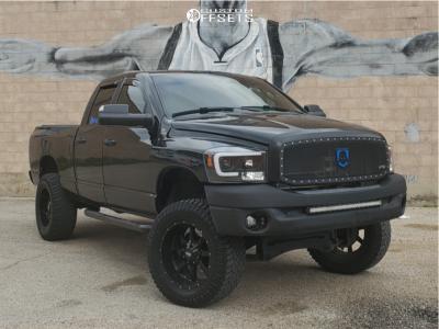 "2008 Dodge Ram 1500 - 20x10 977.9mm - Moto Metal Mo970 - Suspension Lift 6"" - 35"" x 12.5"""