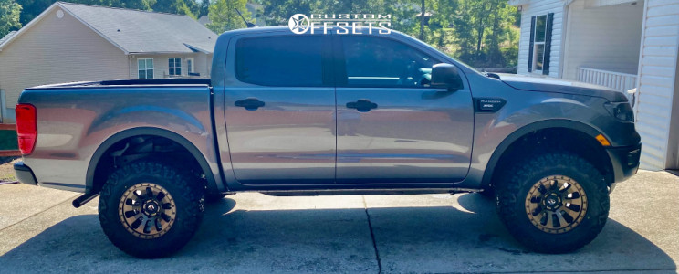 """2021 Ford Ranger - 17x9 -12mm - Fuel Tactic - Leveling Kit - 33"""" x 12.5"""""""