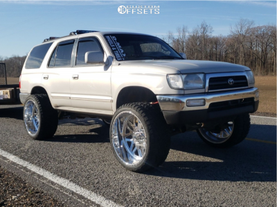 """1998 Toyota 4Runner - 24x12 0mm - American Force Trax Ss - Suspension Lift 3"""" - 33"""" x 12.5"""""""
