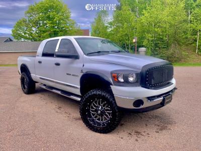 """2006 Dodge Ram 2500 - 20x10 -19mm - Pure Grit Ambition - Suspension Lift 3"""" - 35"""" x 12.5"""""""