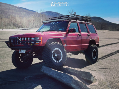 """1998 Jeep Cherokee - 15x8 -25.4mm - Ion Alloy 174 - Suspension Lift 3"""" - 32"""" x 11.5"""""""