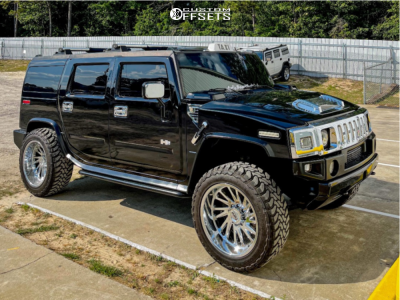 """2005 HUMMER H2 - 22x12 -44mm - Tuff T2a - Stock Suspension - 35"""" x 12.5"""""""