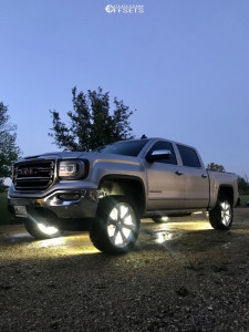 """2016 GMC Sierra 1500 - 22x10 24mm - Factory Reproductions Fr47 - Leveling Kit - 33"""" x 12.5"""""""