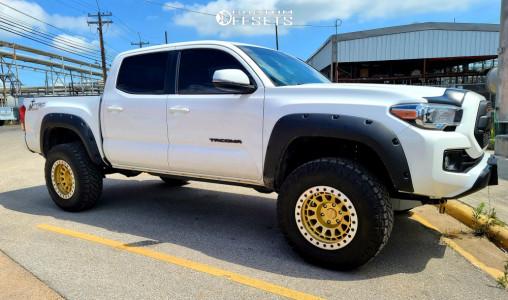 """2019 Toyota Tacoma - 17x8.5 -30mm - Black Rhino Primm - Suspension Lift 3.5"""" - 285/70R17"""