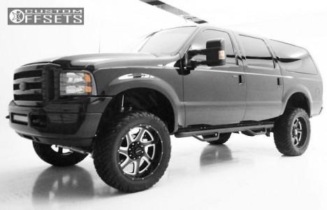 "2000 Ford Excursion - 22x10 -24mm - Moto Metal Mo976 - Suspension Lift 5"" - 35"" x 12.5"""