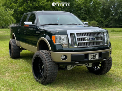 """2012 Ford F-150 - 24x14 -76mm - Xtreme Force Xf-8 - Suspension Lift 8.5"""" - 37"""" x 13.5"""""""