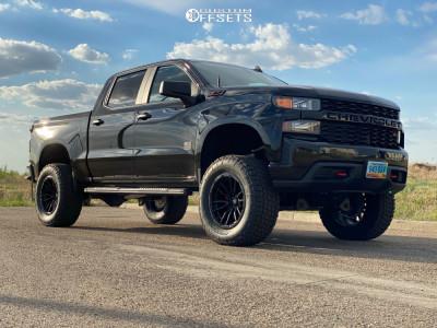 """2020 Chevrolet Silverado 1500 - 20x10 -18mm - Fuel Rebel - Suspension Lift 4"""" - 35"""" x 12.5"""""""