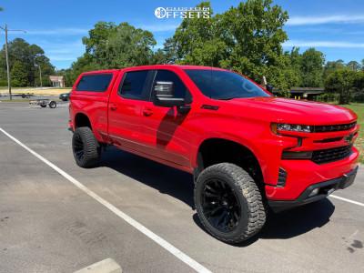 "2019 Chevrolet Silverado 1500 - 22x12 -44mm - Fuel Blitz - Suspension Lift 8"" - 35"" x 12.5"""
