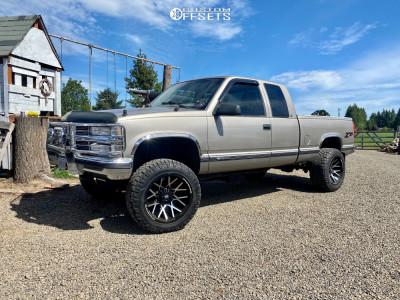 """1998 Chevrolet K1500 - 20x12 -44mm - Dropstar 654mb - Suspension Lift 4"""" - 33"""" x 12.5"""""""