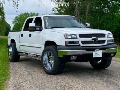 """2004 Chevrolet Silverado 1500 - 20x12 -44mm - Hostile Stryker - Suspension Lift 2.5"""" - 33"""" x 12.5"""""""