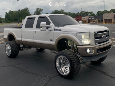 """2013 Ford F-250 Super Duty - 24x16 -103mm - Specialty Forged Sf009 - Suspension Lift 10"""" - 375/40R24"""