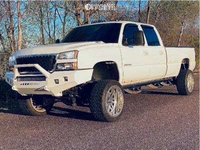 "2005 Chevrolet Silverado 3500 HD - 22x12 -44mm - American Force Trax Ss - Suspension Lift 6"" - 33"" x 12.5"""