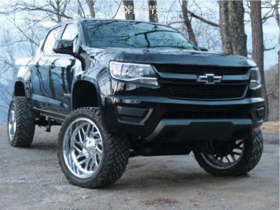 "2016 Chevrolet Colorado - 22x12 -44mm - Fuel Triton - Suspension Lift 6"" - 33"" x 12.5"""