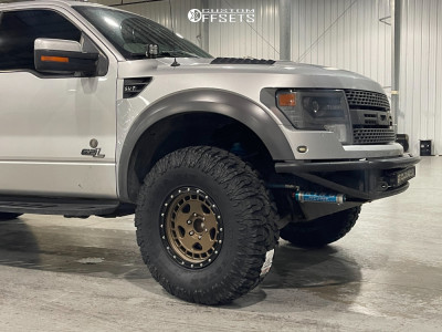 """2013 Ford Raptor - 17x8.5 -12mm - Fifteen52 Offroad Turbomac Hd - Suspension Lift 3"""" - 37"""" x 12.5"""""""