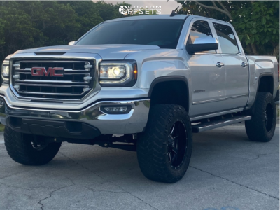 "2018 GMC Sierra 1500 - 20x10 -25mm - Fuel Maverick - Suspension Lift 6.5"" - 35"" x 12.5"""