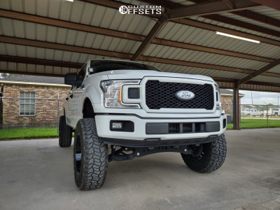 "2019 Ford F-150 - 20x10 -24mm - Fuel Triton - Suspension Lift 8"" - 37"" x 12.5"""