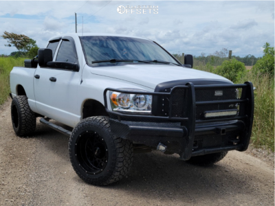 "2007 Dodge Ram 2500 - 20x12 -51mm - Vision Rocker - Suspension Lift 3"" - 35"" x 12.5"""