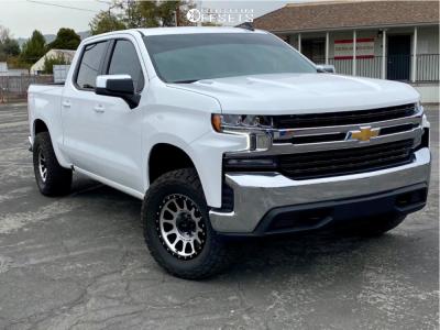 "2021 Chevrolet Silverado 1500 - 18x9 -12mm - Method Mr305 - Leveling Kit - 33"" x 12.5"""