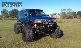 "1987 Toyota 4Runner - 15x14 -165.1mm - MRW Racing Wheels steel - Suspension Lift 9"" - 42"" x 18.5"""