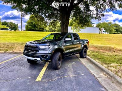 "2019 Ford Ranger - 17x9 -0mm - Method Mr312 - Suspension Lift 4"" - 33"" x 12.5"""