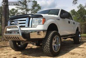 "2010 Ford F-150 - 22x12 -44mm - Moto Metal MO969 - Lifted >9"" - 37"" x 12.5"""
