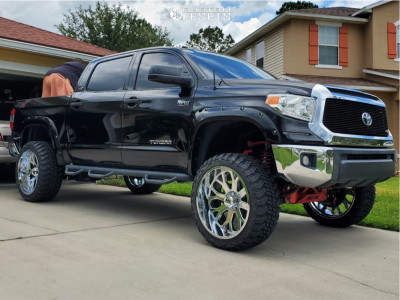 "2015 Toyota Tundra - 24x12 -44mm - Hardrock Slammer Xposed - Suspension Lift 7"" - 35"" x 13.5"""