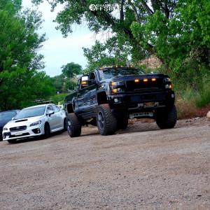 "2015 Chevrolet Silverado 2500 HD - 20x12 -44mm - Cali Offroad Busted - Suspension Lift 7.5"" - 37"" x 12.5"""