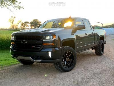 "2017 Chevrolet Silverado 1500 - 20x10 -19mm - Hostile Alpha - Leveling Kit - 33"" x 12.5"""