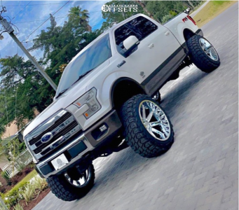 """2015 Ford F-150 - 24x14 -75.946mm - Axe Offroad Artemis - Suspension Lift 8"""" - 37"""" x 13.5"""""""