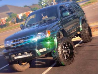 "1999 Toyota 4Runner - 20x12 -44mm - Fuel Maverick - Suspension Lift 3"" - 33"" x 12.5"""