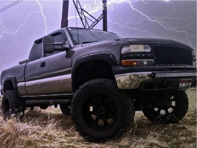 "1999 Chevrolet Silverado 1500 - 20x12 -44mm - Moto Metal Mo962 - Suspension Lift 10"" - 37"" x 13.5"""