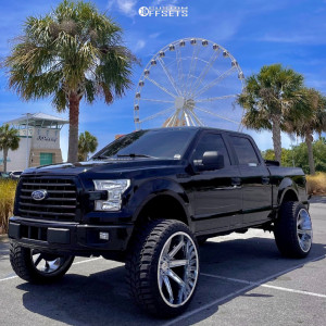 """2017 Ford F-150 - 26x14 0mm - Axe Offroad Artemis - Suspension Lift 7"""" - 37"""" x 13.5"""""""