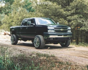 """2007 Chevrolet Silverado 2500 HD Classic - 22x14 -76mm - Fittipaldi Offroad Ftf13 - Suspension Lift 4.5"""" - 305/45R22"""