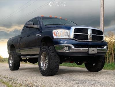 "2008 Dodge Ram 2500 - 20x12 0mm - Moto Metal N/a - Suspension Lift 6"" - 37"" x 12.5"""