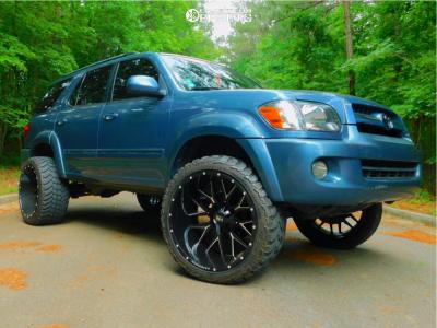 "2005 Toyota Sequoia - 24x14 -76mm - Hardrock Affliction H700 - Leveling Kit - 35"" x 13.5"""