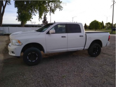 "2009 Dodge Ram 1500 - 20x12 -44mm - TIS 544b - Stock Suspension - 35"" x 12.5"""