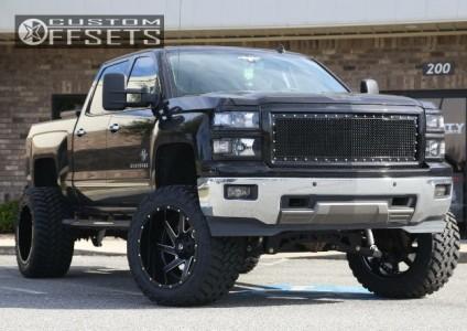 """2014 Chevrolet Silverado 1500 - 22x14 -70mm - Fuel Renegade - Suspension Lift 9"""" - 375/45R22"""